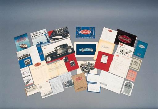 Ettore Bugatti - two typescrip