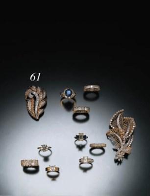 DIAMOND AND YELLOW GOLD FOLIAT