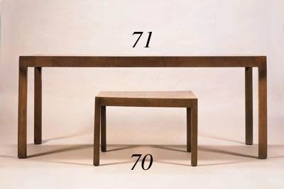 A ROSEWOOD TEA TABLE