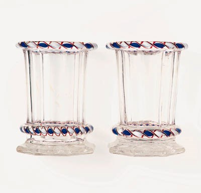 A PAIR OF SAINT LOUIS FACETED