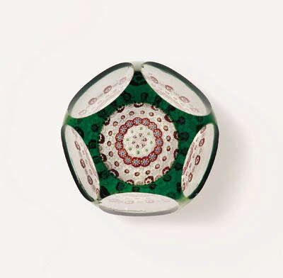 A BACCARAT TRANSLUCENT GREEN O