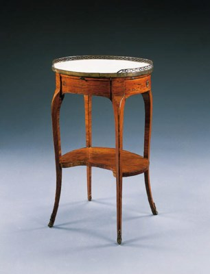 A LOUIS XV TULIPWOOD TABLE A E