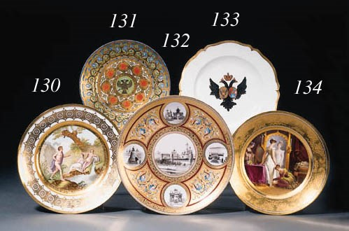 A painted porcelain Plate