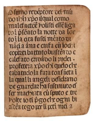 LEIDEN CHRISTI, in Italian --