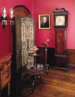 A George II mahogany candle-st
