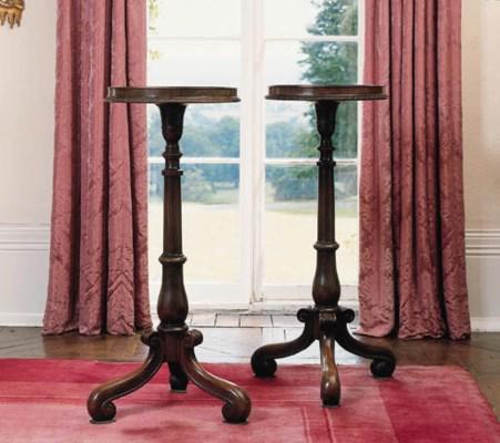 A pair of George II mahogany c