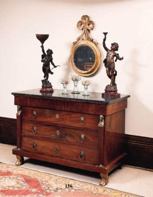 An Empire mahogany commode