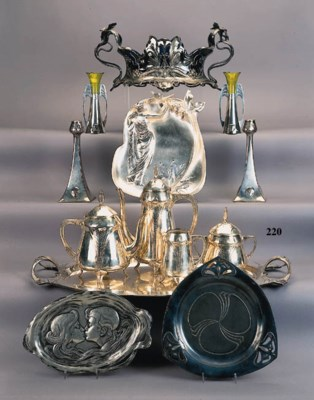 A W.M.F. silvered metal teaset