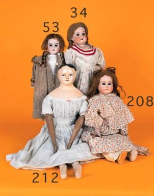 A bisque shoulder headed doll