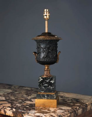 A French bronze and gilt-bronz