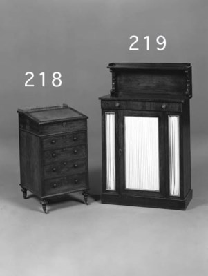 A ROSEWOOD CHIFFONIER, EARLY 1