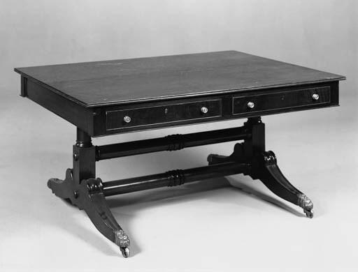 A mahogany library table of la