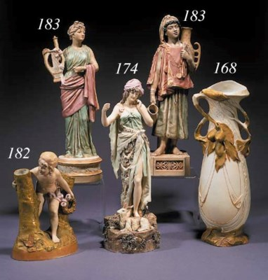 A Royal Dux pottery jardiniere