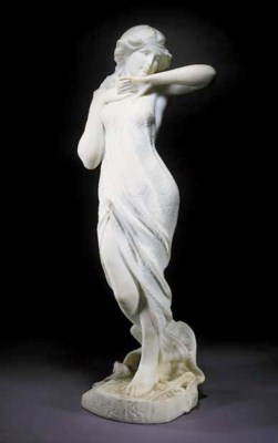 An alabaster figure