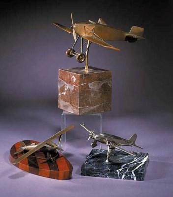An American Art Deco bronze mo