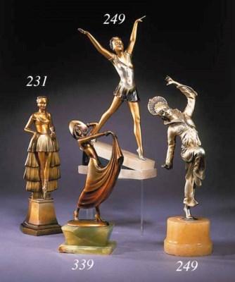 A gilded bronze figure