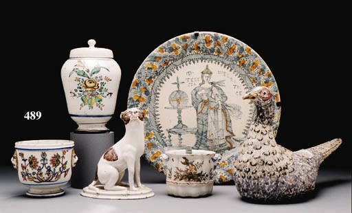 A FRENCH FAIENCE JARDINIRE