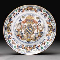 A LARGE ARMORIAL PLATE