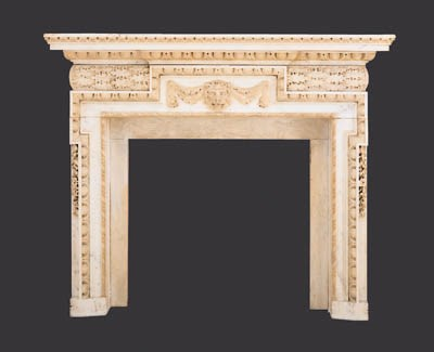A GEORGE II STYLE WHITE MARBLE