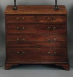 A GEORGE III MAHOGANY CHEST-OF