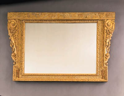 A GEORGE II OVERMANTEL MIRROR