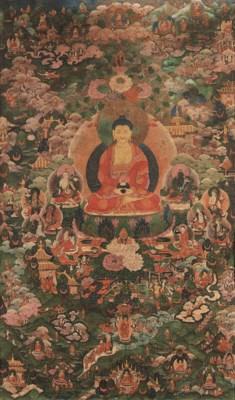 A thanka of Buddha Amitabha