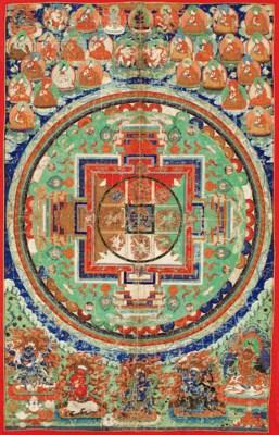 A large mandala of Yamantaka