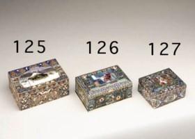 A silver-gilt, cloisonn and en-plein enamel Cigar-box