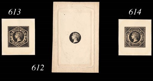 Proof  1/- stamp-size in black