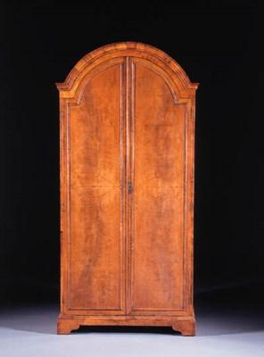 A Dutch mahogany cupboard
