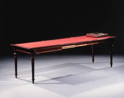 A french brass-inlaid mahogany