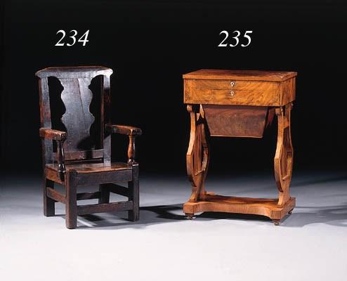 A dutch mahogany worktable