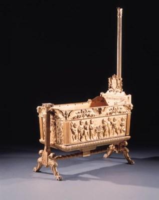 A German carved giltwood cradl