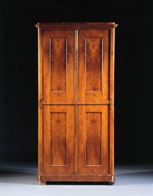 A German walnut armoire