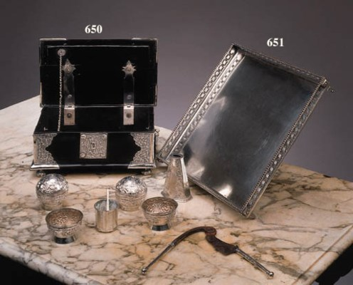 A Dutch colonial square silver
