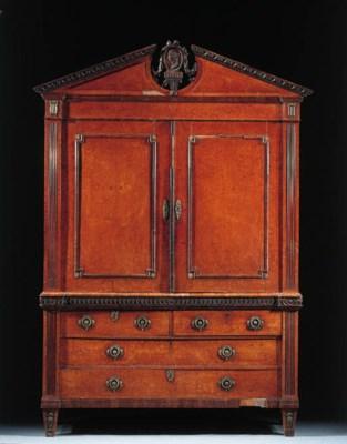 A Dutch thuya cabinet