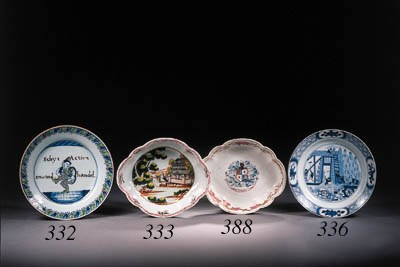 A famille rose lobed oval dish