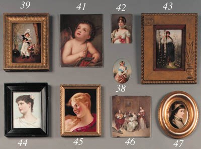 a french porcelain plaque with