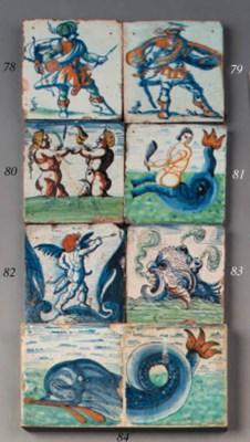 a dutch delft decorative tile