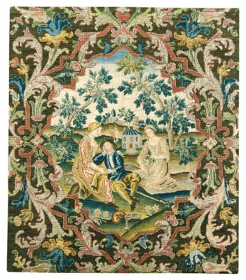 A FRENCH NEEDLEWORK PANEL