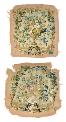 TWO LOUIS XV AUBUSSON TAPESTRY