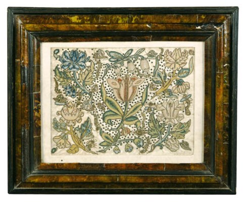 A ENGLISH NEEDLEWORK PANEL, PR