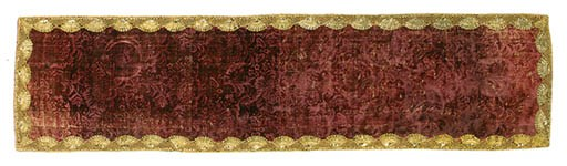 A PANEL OF STAMPED CRIMSON VEL