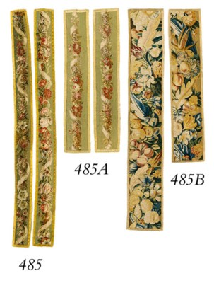 TWO BRUSSELS TAPESTRY BORDER F