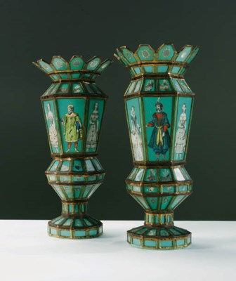 A PAIR OF EARLY VICTORIAN GREE
