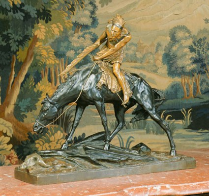 A French patinated bronze eque