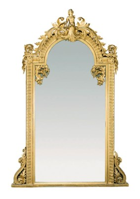A French giltwood overmantel m