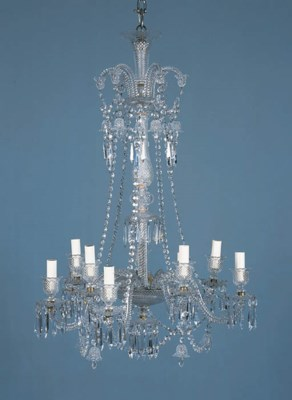 An English glass ten-light cha