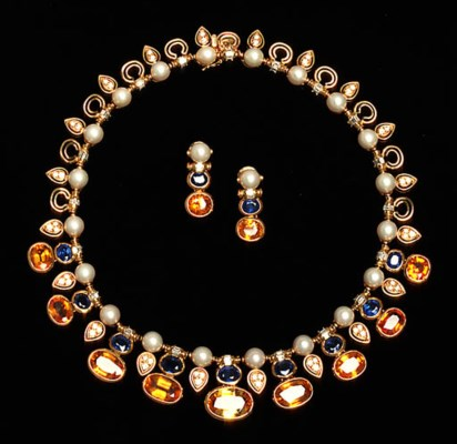A Coloured Sapphire, Cultured