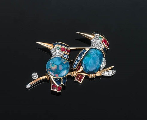 An Attractive Opal and Gem-set